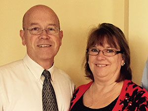 Vice-President John Sanders and his wife Sharon
